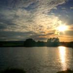 Pohled před západem slunce