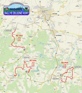 Mapa rallye