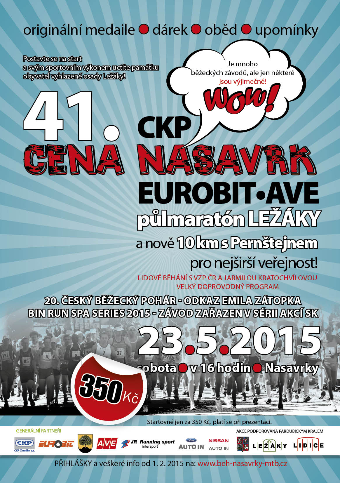 Cena Nasavrk – Eurobit AVE půlmaratón Ležáky 2015